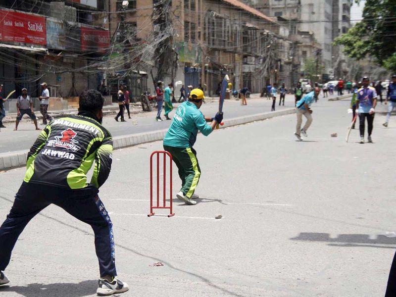 باكستان لعبة الكريكيت كراتشي