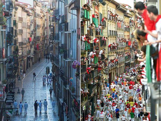يدير بول إسبانيا مهرجان سان فيرمين