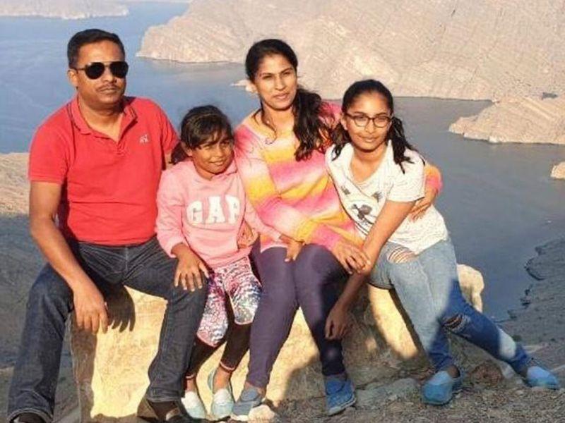 فيديا مع عائلتها