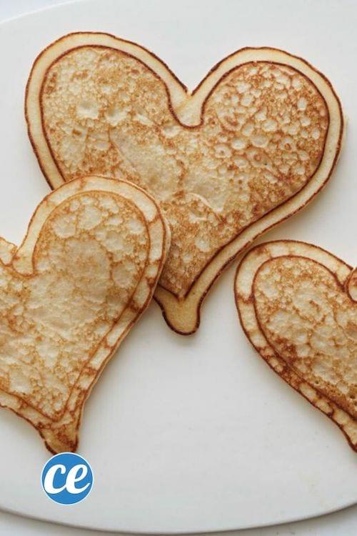 الفطائر على شكل قلب لعيد الحب