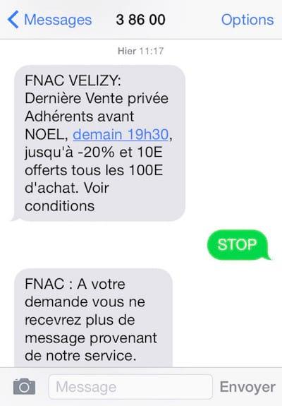 كيفية إيقاف استقبال الرسائل القصيرة من إعلانات FNAC