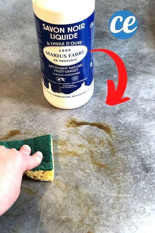 صابون أسود لتقليل حجم سطح العمل
