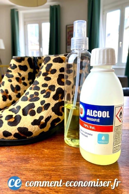 70٪ كحول يساعد في صنع أحذية صغيرة جدًا.