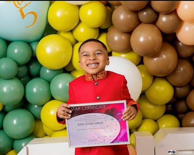 تونتو Dikeh يمنح ابنه نجمًا حقيقيًا في السماء في عيد ميلاده الخامس: الصور