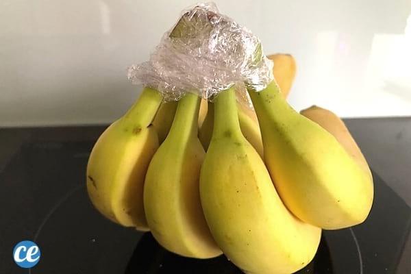 ملفوفة بسيقان الموز في البلاستيك