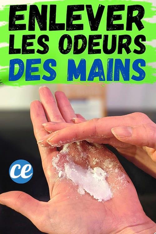 الأيدي ذات الرائحة الكريهة ويتم تنظيفها بصودا الخبز