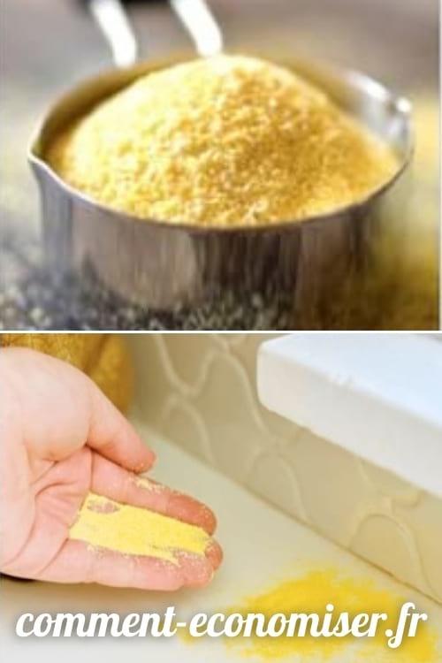 استخدم دقيق الذرة للتخلص من النمل.