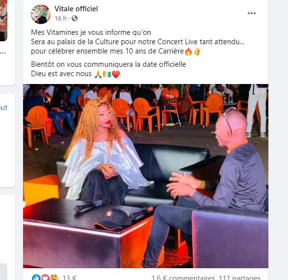 ساحل العاج: انتقد بسبب موهبته كفنان فيتالي يستعد لشيء ما