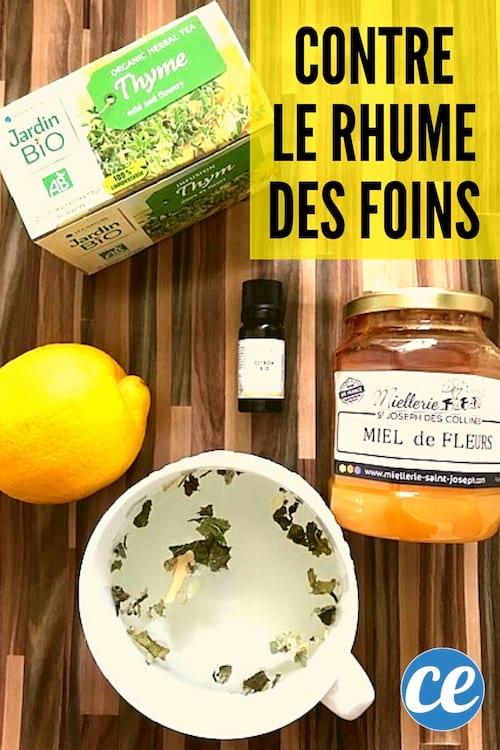نقيع من الزعتر والليمون بالإضافة إلى العسل للتخفيف من نزلات البرد في فتحة الشرج