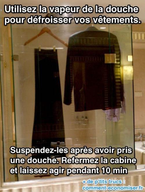 استخدم بخار الحمام لتنعيم ملابسك.