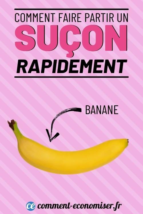 استخدم قشر الموز لجعل الهيكي يختفي بشكل أسرع.