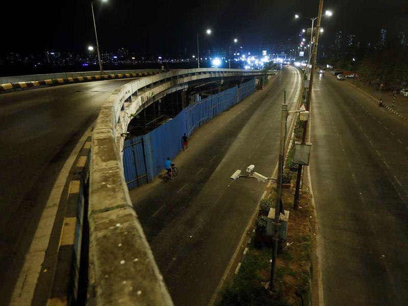 طريق الهند مومباي لحظر التجول