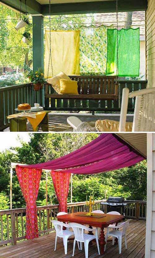 ستائر ملونة لتظليل الشرفة