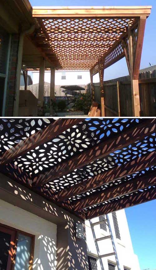 عريشة مخرمة لحماية الشرفة من أشعة الشمس