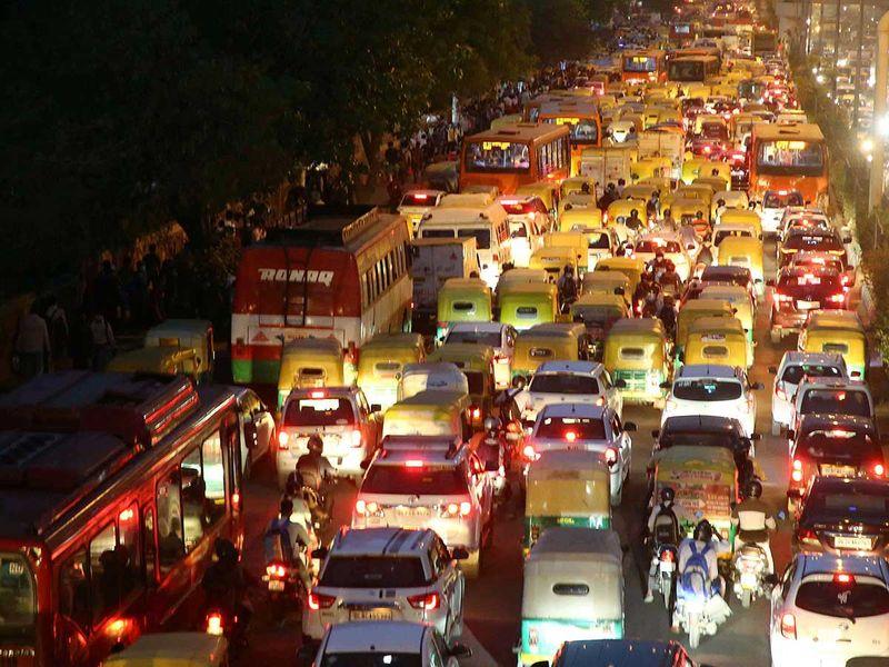 ازدحام المرور في دلهي