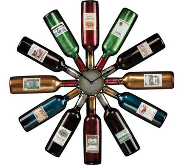 ساعة الزجاجات