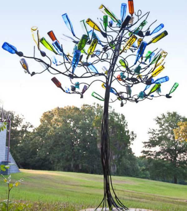زجاجات شجرة ديكو