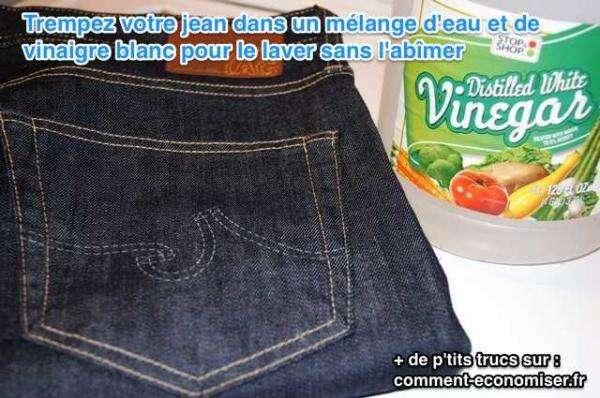لغسل الجينز الخاص بك ، استخدم الخل الأبيض