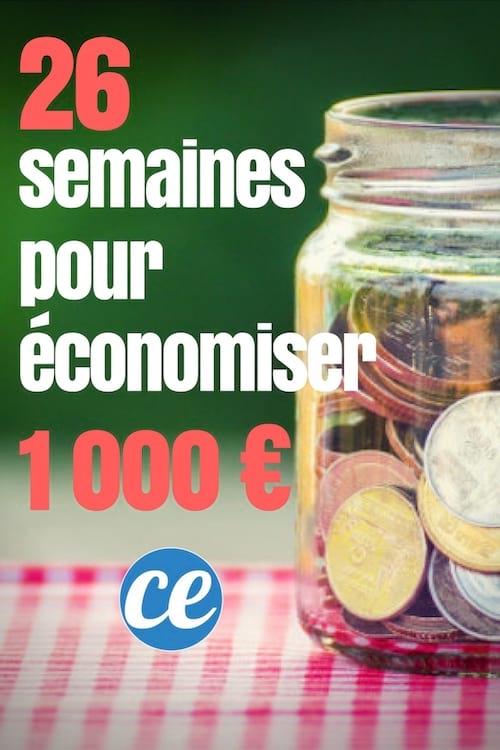 وفر 1000 يورو بسهولة في 26 أسبوعًا من المدخرات