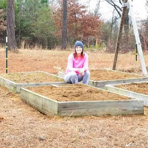 اترك مساحة لا تقل عن 60 إلى 90 سم بين حاويات حديقة الخضروات المرتفعة.