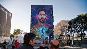 ليونيل ميسي: لوحة جدارية عملاقة تكريما له في حي طفولته
