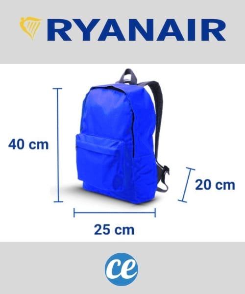 الحد الأقصى لحجم حقائب اليد Ryanair