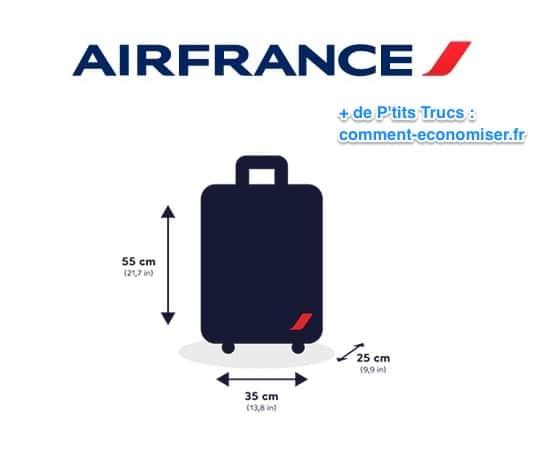 أبعاد الأمتعة اليدوية على الخطوط الجوية الفرنسية مجانية