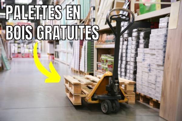 محلات السوبر ماركت للعثور على منصات خشبية مجانية.