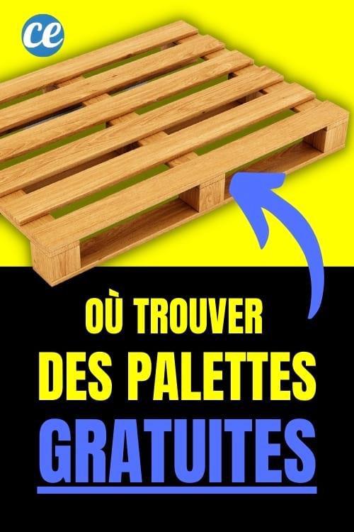 أين تجد المنصات الخشبية المجانية؟