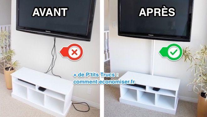 كيف تخفي كابلات التلفاز بسهولة ورخيصة