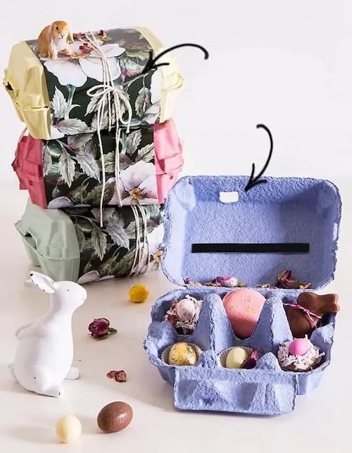 علب الهدايا المصنوعة من تغليف علبة البيض