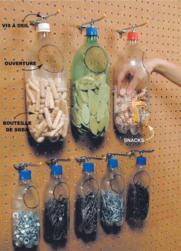 عبوات بلاستيكية لتخزين البراغي والمسامير