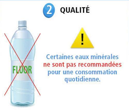 تحتوي المياه المعدنية على الكثير من الفلورايد والمعادن