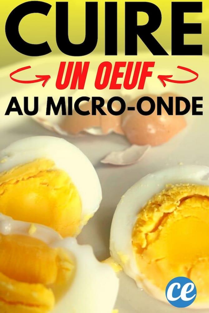بيض مسلوق أو مسلوق جيدًا في تعليمات وصفة الميكروويف